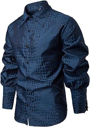 Camisas De Hombre Top Elegante Moda Blusas Tshirts con Cordón Manga Corta De Solapa Camisa Tradicional Patchwork Vintage Classic Hombres Camisas: Amazon.es: Ropa y accesorios