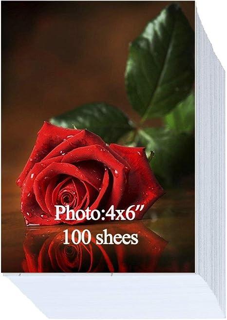 Amazon.com: Papel fotográfico brillante, 7.05 oz/m², 100 ...