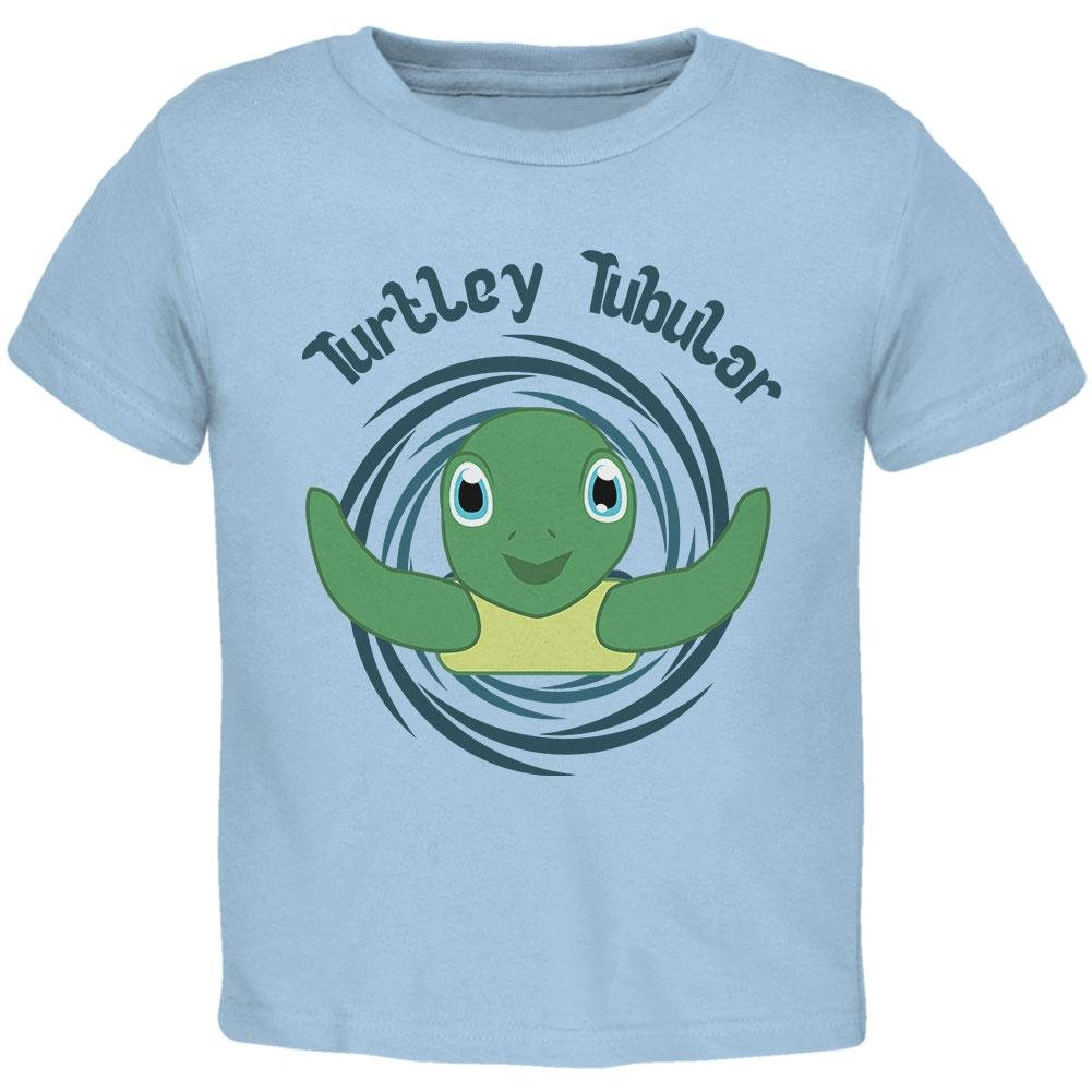 Old Glory Sea Turtle Totally Tubular Funny Pun Cute Toddler T Shirt