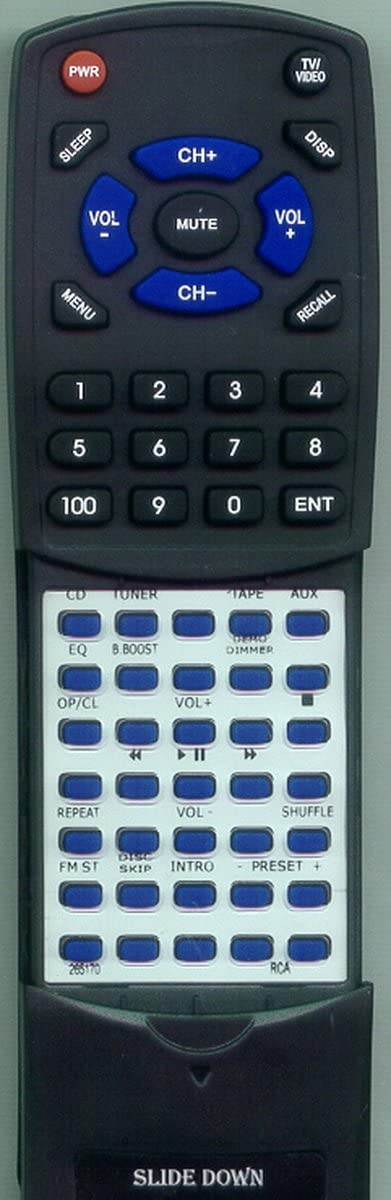 RS2635B Replacement Remote Control for RCA 265170 RS2635