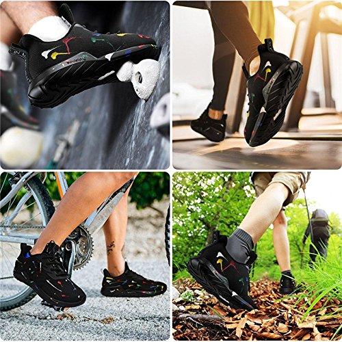 Schwarz Gewebe Faule up soulsfeng Mesh Spray Weiß Schuhe Schuhe 38 Sportschuhe Dämpfung Herren und Sportschuhe Atmungsaktives Damen Lace Schuhe Schuhe nTr8XT4