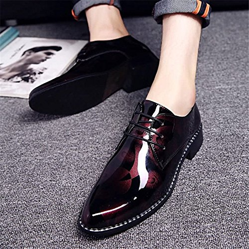 nuovo motivo tacco Gray mocassini Business mocassino scarpe 2018 da camouflage ballerine shoes 6 uomo Shufang casual Red nbsp;uomo piatto 7t4ggf