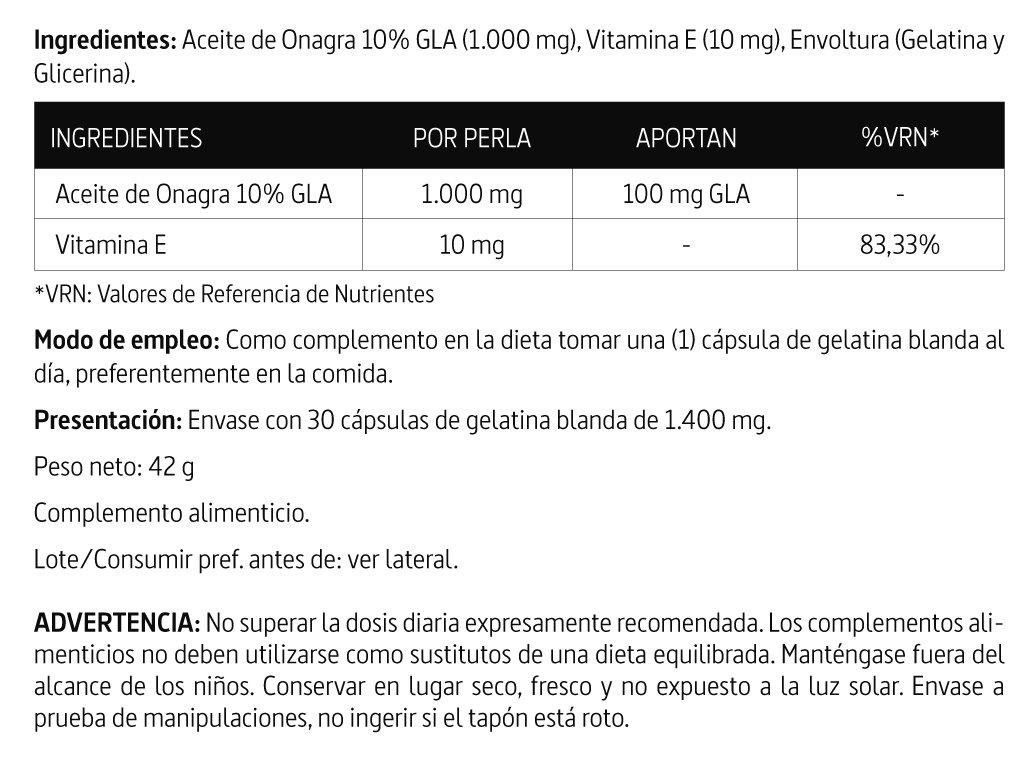 Nature Essential Aceite de Onagra - 30 Cápsulas (Pack 3 u ...
