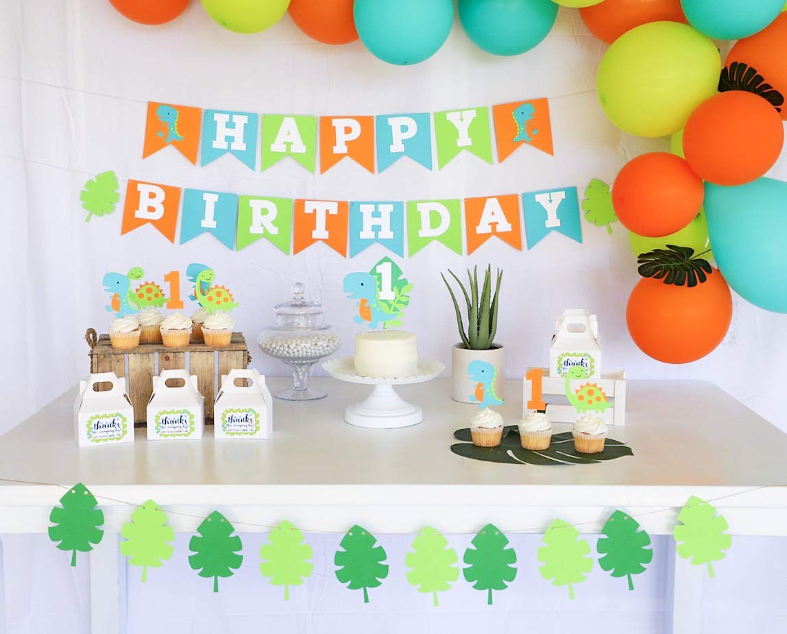 Dinosaur Party Decor Dinosaur Birthday Banner Happy Birthday Banner Dino Party Photo Prop First Birthday