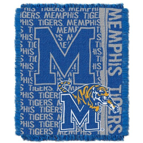 The Northwest Company Officially Licensed NCAA Memphis Tigers Double Play Jacquard Throw Blanket, 48