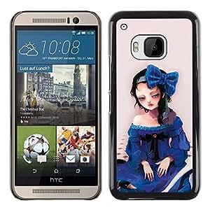 Exotic-Star ( Cute Sad Girl ) Fundas Cover Cubre Hard Case Cover para HTC One M9