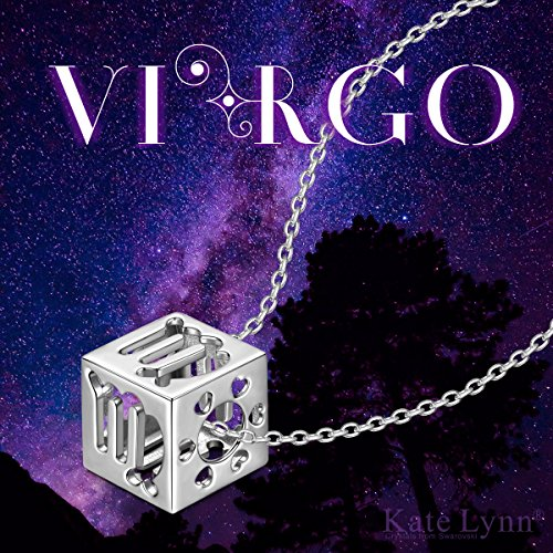 Kate Lynn Womens 925 Sterling Silver Virgo Pendant Necklace Zodiac Constellation Jewelry Birthday Gifts for Her Ladies Gifts
