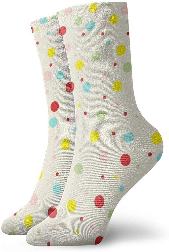 Wa-shop Pack de calcetines de vestir para hombre, calcetines de poliester divertidos con múltiples puntos de colores: Amazon.es: Ropa y accesorios
