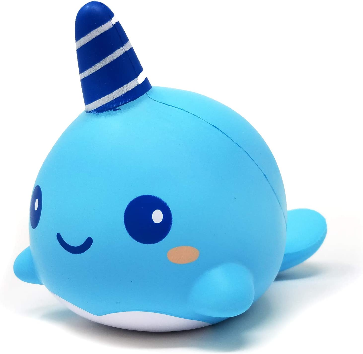 ibloom Billie The Whale Cute Animal Slow Rising Squishy Toy (Light Blue, Mint Scented, 8 Inch) [Kawaii Squishies for Birthday Gift Boxes, Party Favors, Stress Balls for Kids, Girls, Boys, Adults]