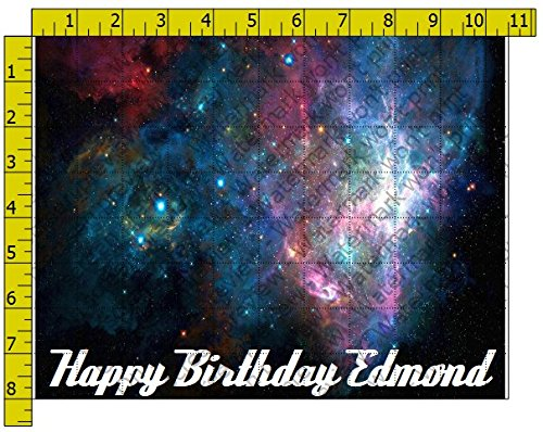 Galaxy Personalized Birthday Edible Frosting Image 1/4 sheet Cake Topper for $<!--$9.99-->