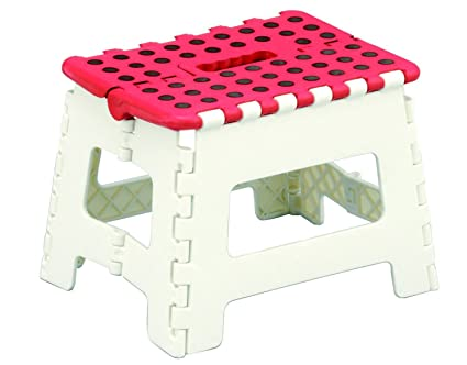 Hibuy sgabello scaletta pieghevole con impugnatura per cucina e
