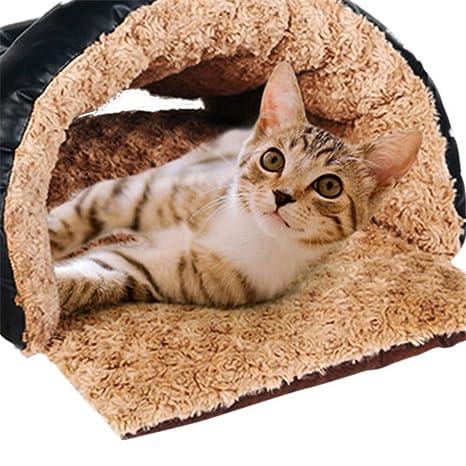 Wuwenw Saco De Dormir De Gato Saco De Arena para Gatos Cachorros De Perrera De Invierno