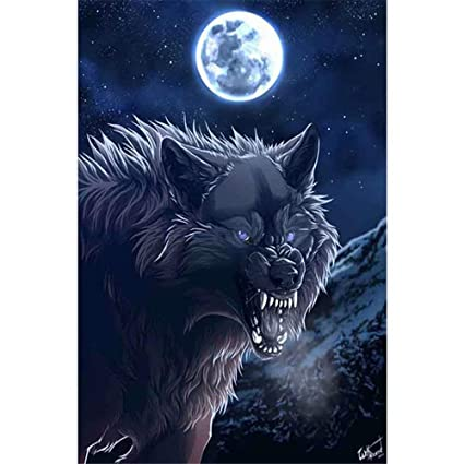 Full Drill Wolves DIY 5D Diamond Painting By Number Kits Moasic Art Needwork