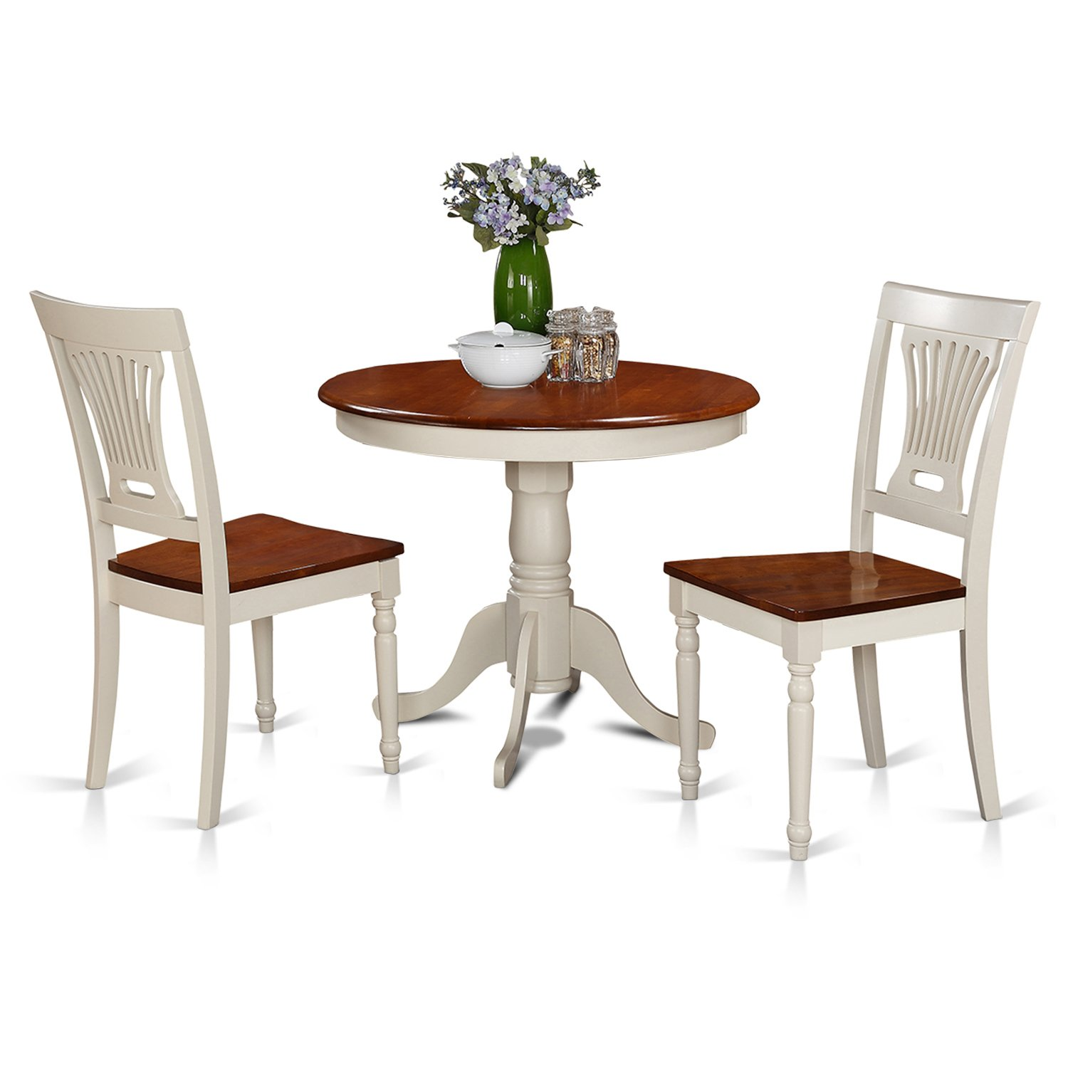3 Piece Kitchen Nook Dining Set Small Kitchen Table And 2: East West Furniture ANPL3-WHI-W 3-Piece Kitchen Nook