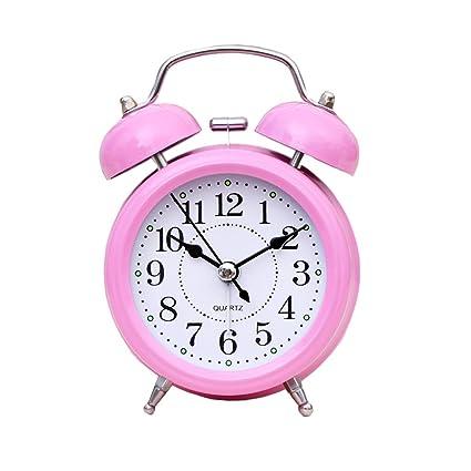 Reloj Despertador Retro Metal Creador De Noche De Luz Mute ...