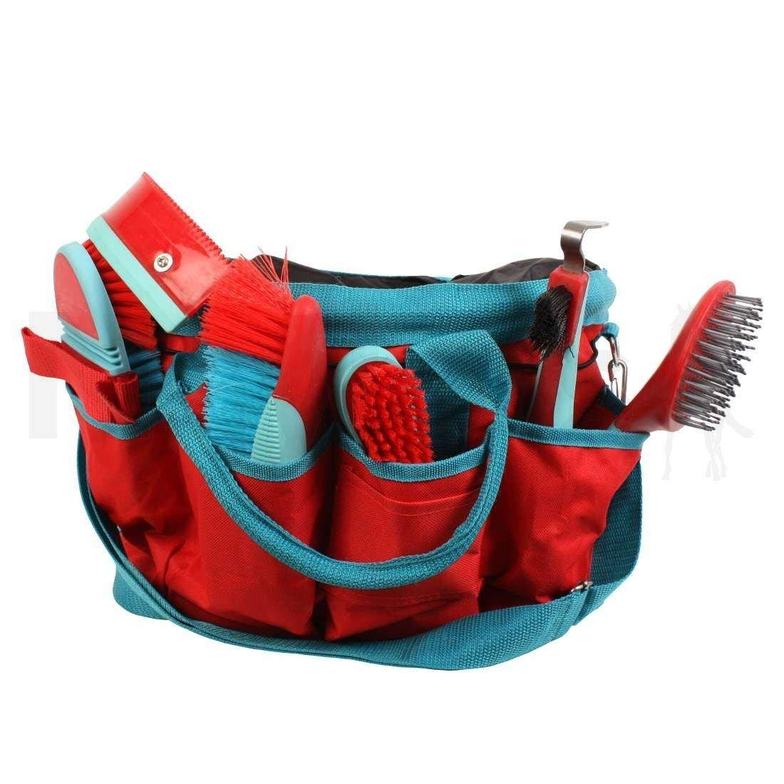 Roma Deluxe 6 Piece Grooming Bag (One Size) (Watermelon/Bright Blue)