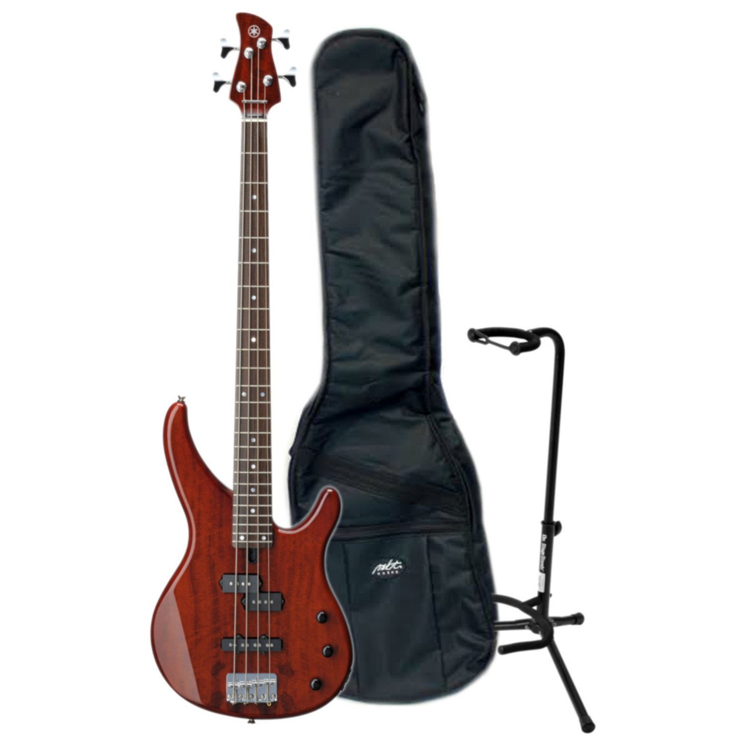 Yamaha TRBX174EW RTB ELECTRIC BASS (ROOT BEER) w/ Gig Bag and Stand