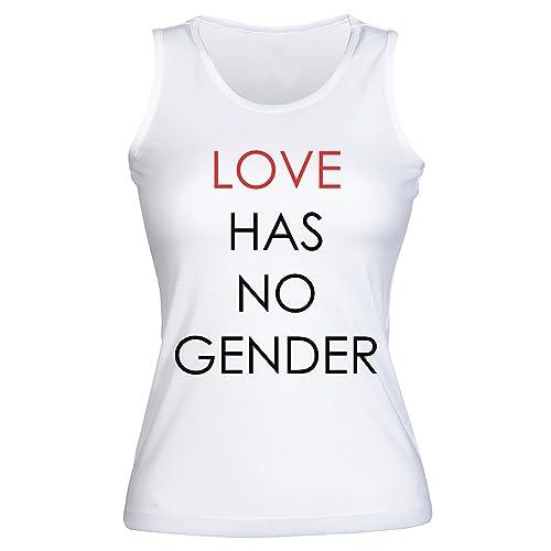 Love Has No Gender Camisetas sin mangas para mujer Shirt