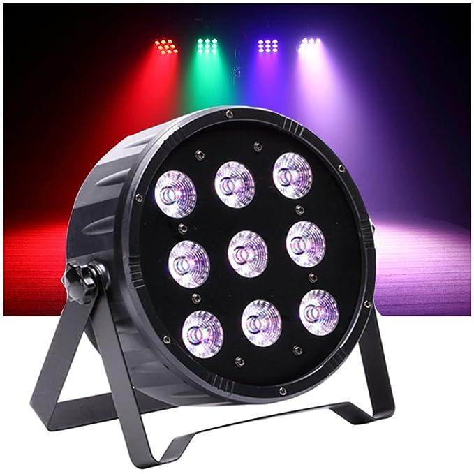 3 opinioni per Top-Uking DMX512 Luci da Palco 9 LED 4 in 1 RGBW Controllo Vocale 6 modo Par