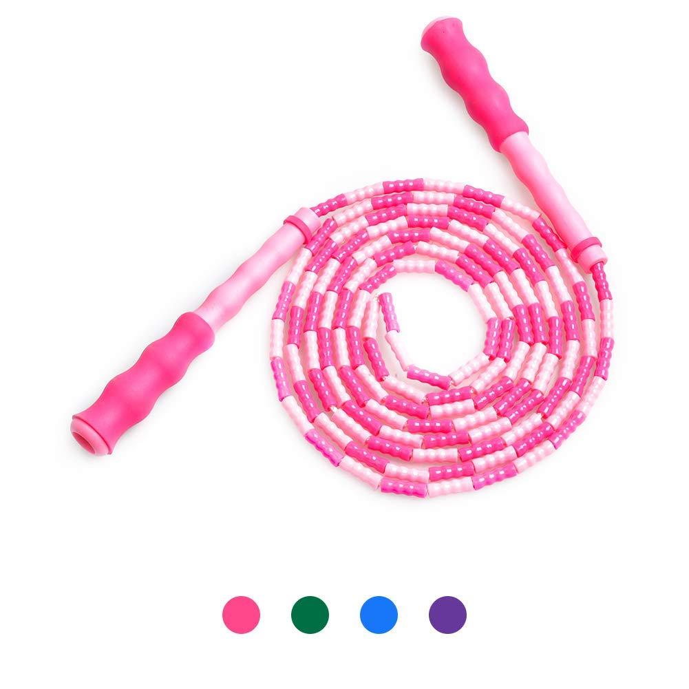 Springseil Weich Perlen Verstellbare f/ür M/änner Frauen und Kinder Verwicklungsfrei f/ür Fitness und Boxen