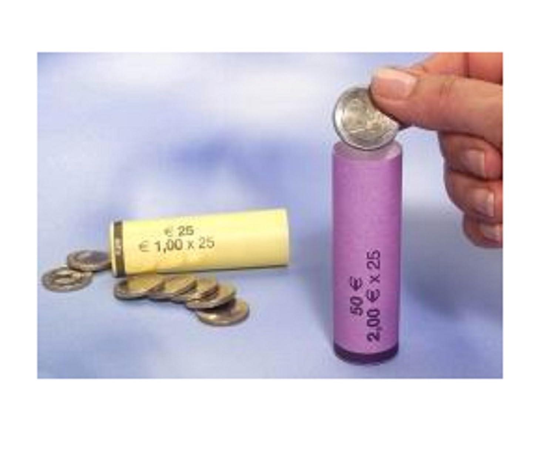 BLISTER PER MONETE EURO TUBI DI CARTA PRECONFEZIONATI EURO CENT Kit 360 tubi carta portamonete da 1 euro