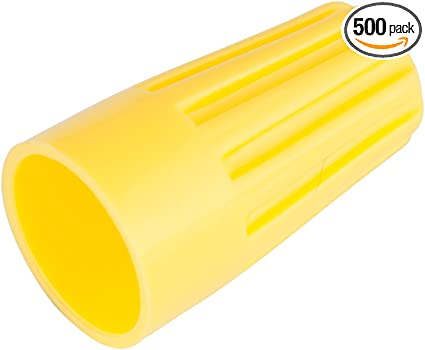 Pack of 500 18-10 AWG Gardner Bender 13-004 WireGard Screw-On Wire Connectors Yellow Electrical Wire Nut
