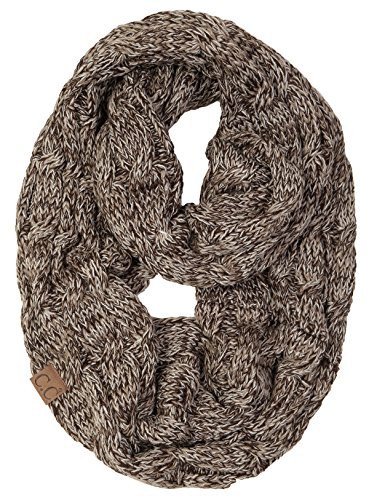 S1-6100-6207 Funky Junque Infinity Scarf - Espresso Brown