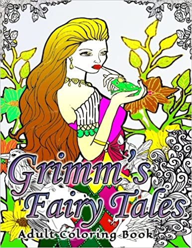 Amazon 17 grimms fairy tales adult coloring book series for Garden 50 designs to help you de stress colouring for mindfulness
