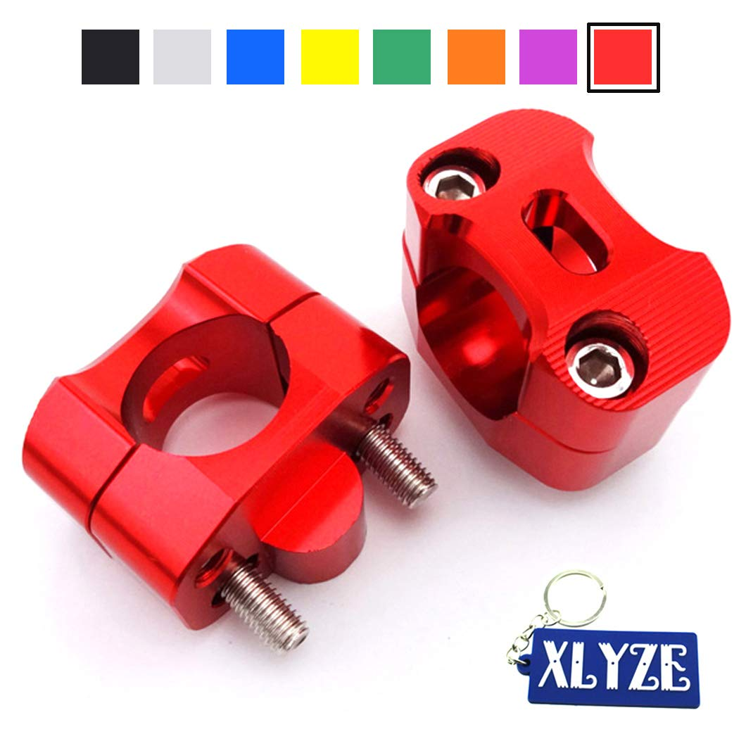 """Red 1 1//8/"""" Fat Handle Bar Risers Clamp For ATV Pit Dirt Bike Motard Motorcycle"""