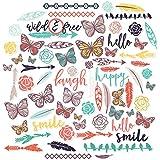 Paper Die Cuts - Free Spirit - Over 60 Cardstock Scrapbook Die Cuts - by Miss Kate Cuttables