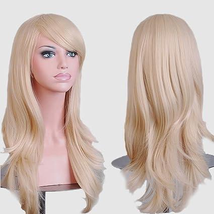 S de noilite 58 cm peluca Mujer Gel ockt Ondulado rizos pelo largo completo pelucas Anime