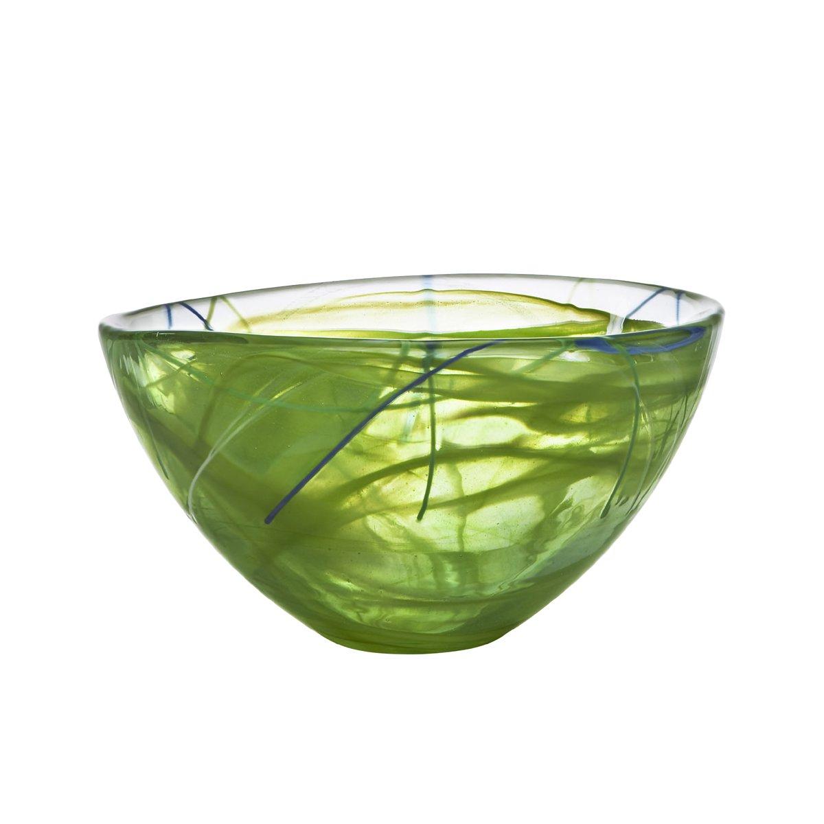 amazoncom kosta boda contrast bowl lime medium home  kitchen -