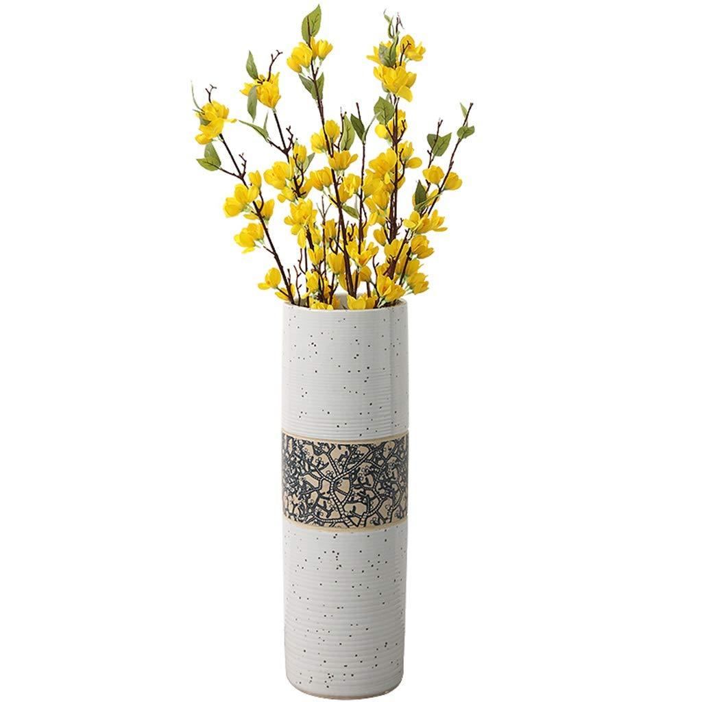 花瓶コンテナセラミックジュエリーホームリビングルームファッション人格床花瓶装飾ホテルクラブ装飾花乱雑なビジョン (Color : GRAY, Size : 20*20*60CM) B07RXQSF3G GRAY 20*20*60CM