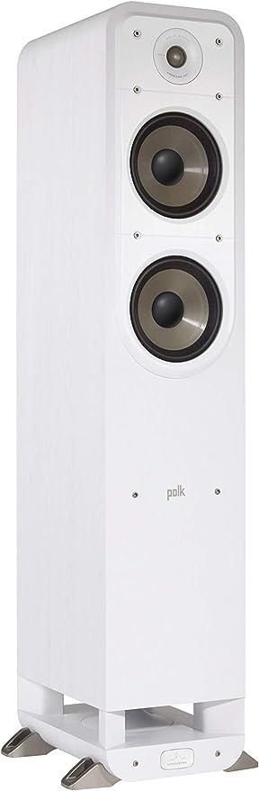 Polk Audio Signature S55e Standlautsprecher Hifi Lautsprecher Für Musik Und Heimkino Sound Passiver Full Range Lautsprecher 20 200 Watt 8 Ohm High Res 40hz 40khz Stück Weiß Audio Hifi