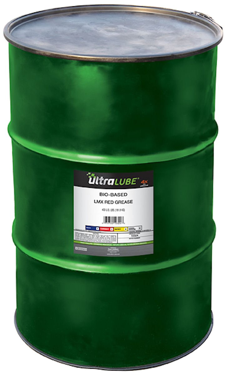 Ultra Lube 10324 LMX Red Lithium Grease, 400 Metal Drum