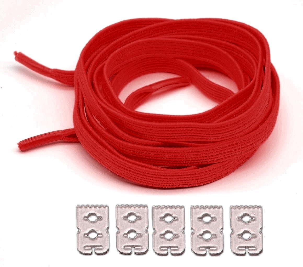 Lacets /élastiques plat sans noeud r/églage et verrouillage facile 90cm