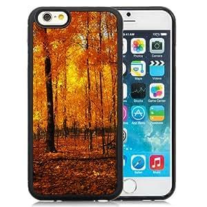 Fashionable Custom Designed iPhone 6 4.7 Inch TPU Phone Case With Orange Forest Autumn_Black Phone Case