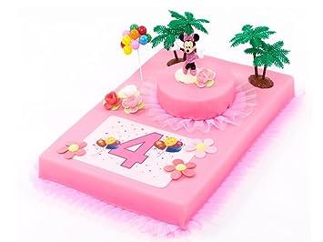 Tortendeko 4geburtstag Minnie Mouse 12 Teilig Tortenaufleger Kuchen