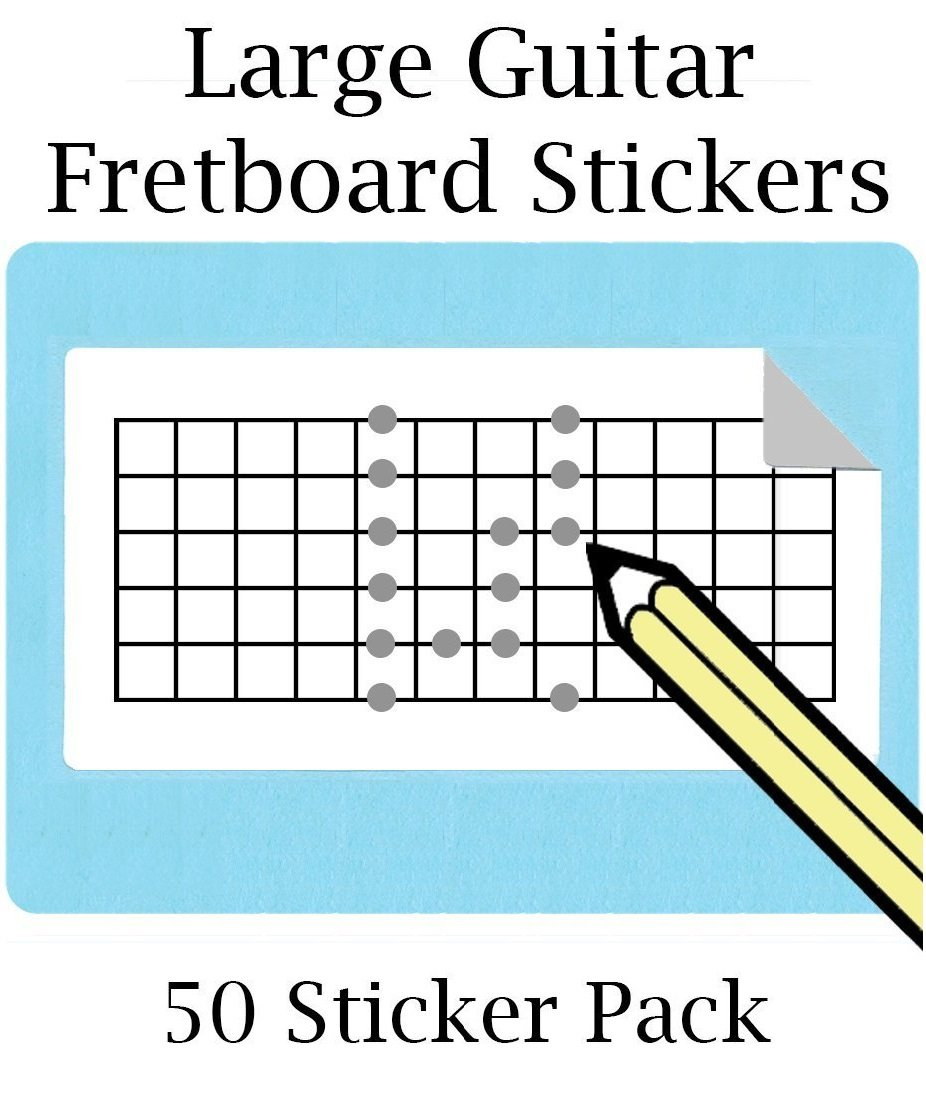 Large Guitar Fretboard Stickers with 12 Frets (50 sticker per pack) Great for Electric Guitar and Mandolin Whirlwindpress.ca 10807235