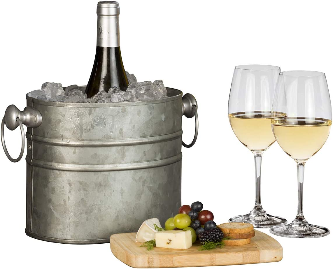 Chic Chill Handcrafted Farmhouse-Rustique Artisan Champagne and Wine Chiller (One Bottle)