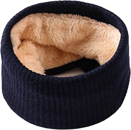 Leories Kids Winter Neck Warmer Thick Knitted Winter Warm Infinity Scarf Circle Loop Scarves