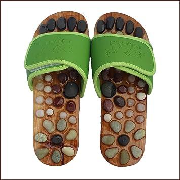 71b97139e84 Reflexology Massage Shoes Acupressure Massage Non-Slip Sandals Natural  Stone Acupuncture Acupoint Foot Massage Slippers