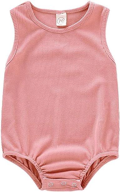WARMSHOP Cute Newborn Toddler Letter Print Summer Sleeveless Tank Tops Cotton V-Neck Vest Clothes 0-24 Months