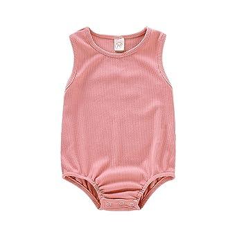 Baiomawzh Monos para bebé niño niña Recién Nacido Verano Mameluco ...