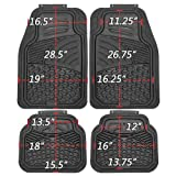 mat sets for cars - OxGord 4pc Set Tactical Heavy Duty Rubber Floor Mats - Black