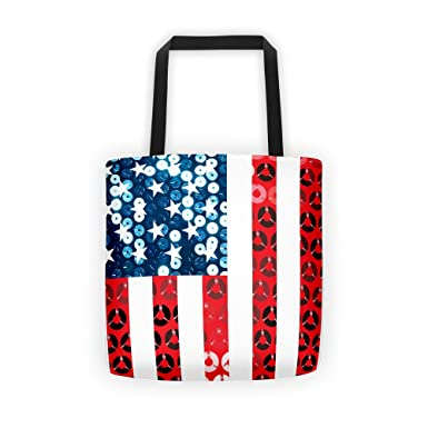 vertical american flag tote bag at amazon women s clothing store