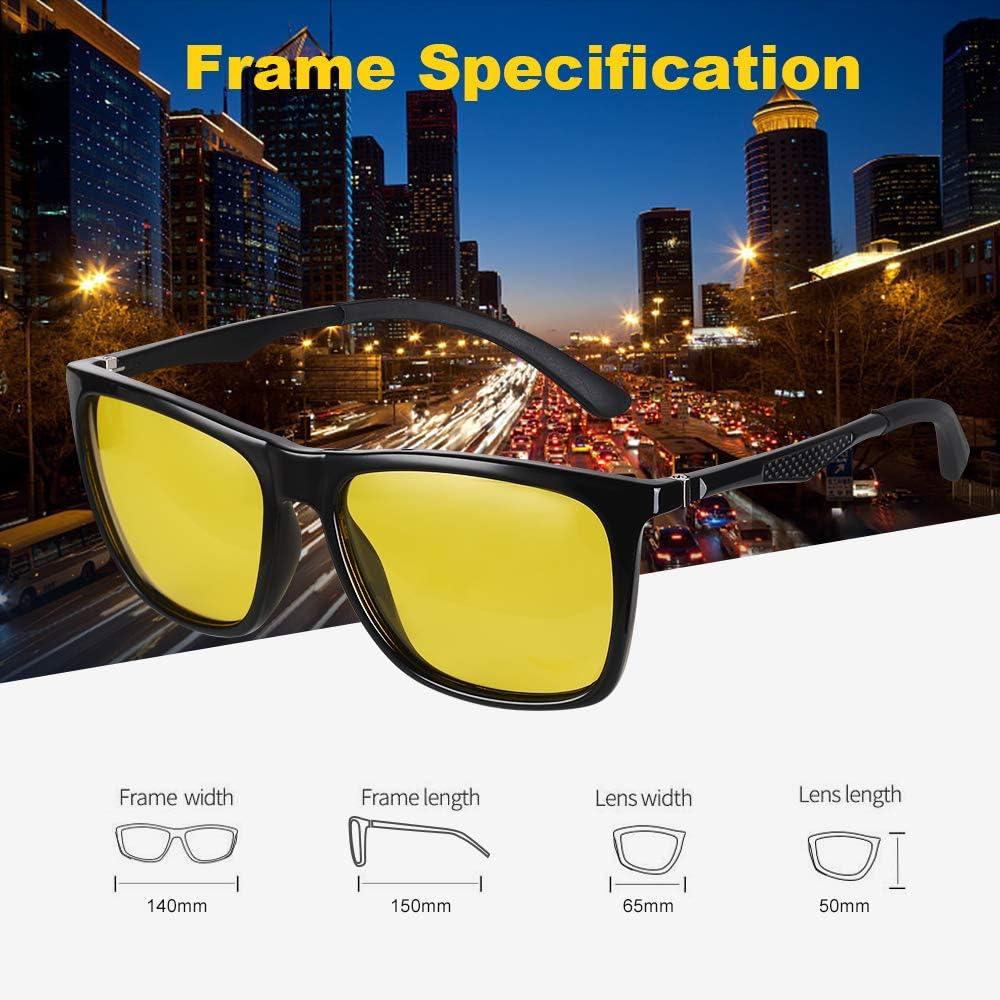 Vimbloom Night Vision Glasses for Driving HD UV400 Polarized Safety Glasses for Men /& Women Risk Reducing Anti-Glare Driver Eyewear Ultra Light Sunglasses VI573