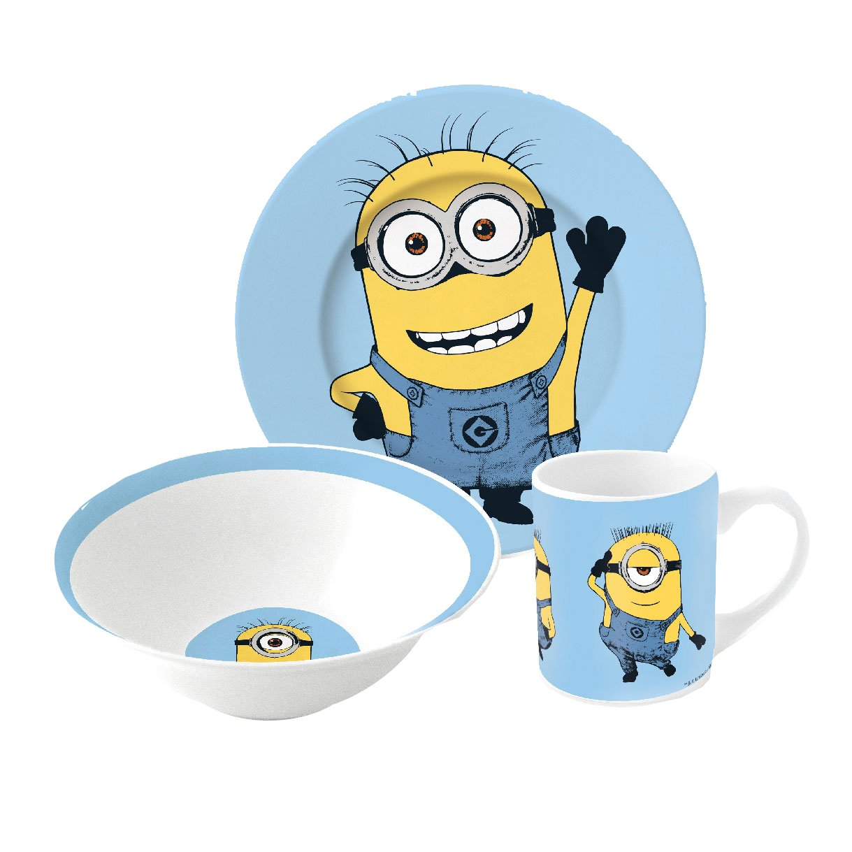 3 Piece Ceramic Snack Set - MINIONS Boyz Toys 77065