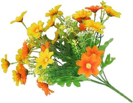 Belle d/écoration de mariage Fleurs en soie 1 bouquet de 28 marguerites artificielles Green de f/ête Taille unique