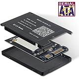 ELUTENG mSATA 変換 SATA 2.5 アダプター 30x50mm mSATA ケース アルミ合金殻 高排熱性 SATA 3.0 6Gbps SSD mSATA to 2.5インチ 自作 pc パーツ for Mac/Win10/8/7/VISTA/XP/Linuxなど対応
